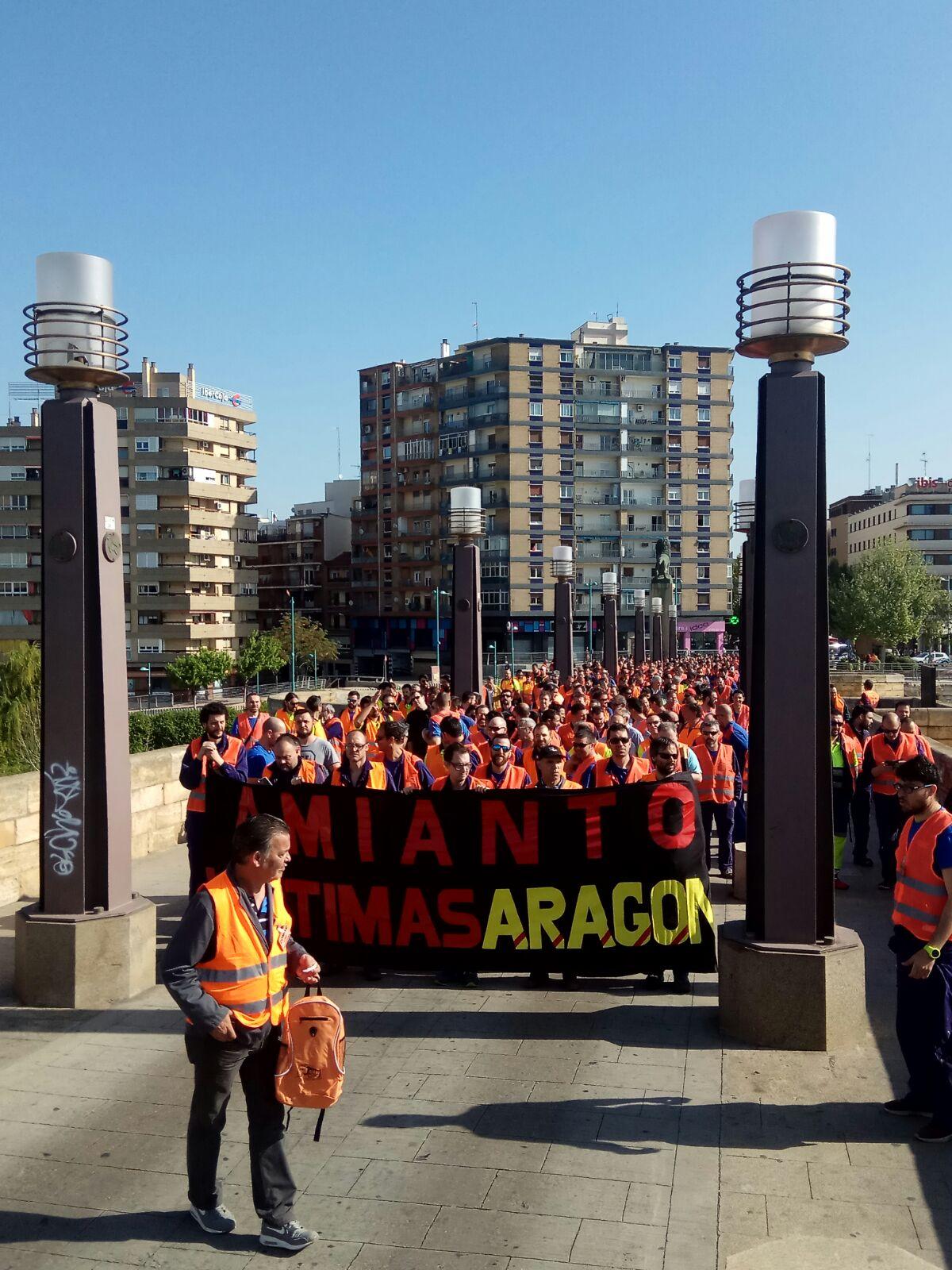 Fotos y video de las movilizaciones de los trabajador@s de CAF Zaragoza en defensa de los afectados por el AMIANTO