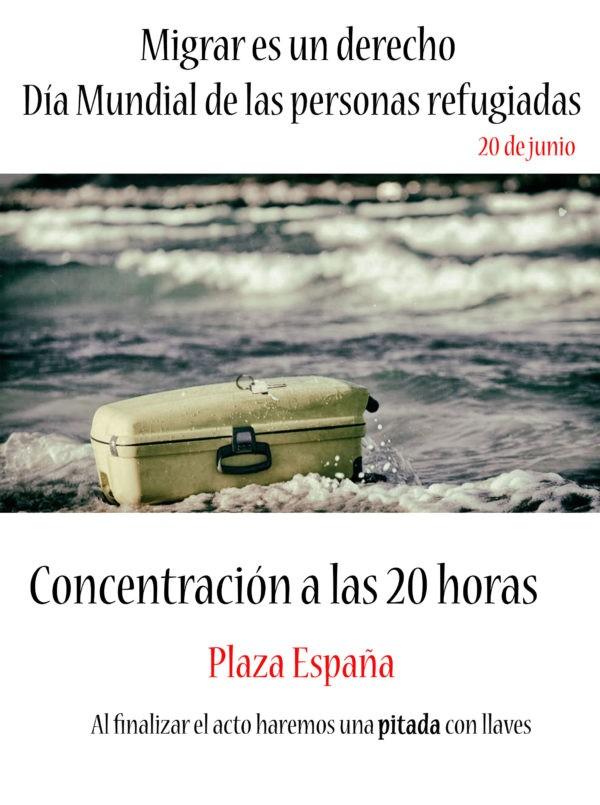 Zaragoza. Fotos Concentración. Migrar es un derecho