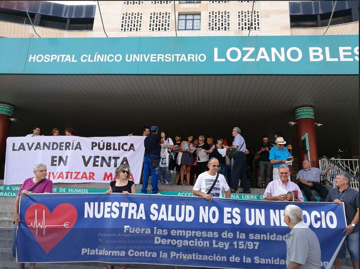 2ª Concentración contra la privatización de la lavandería del H.Clínico