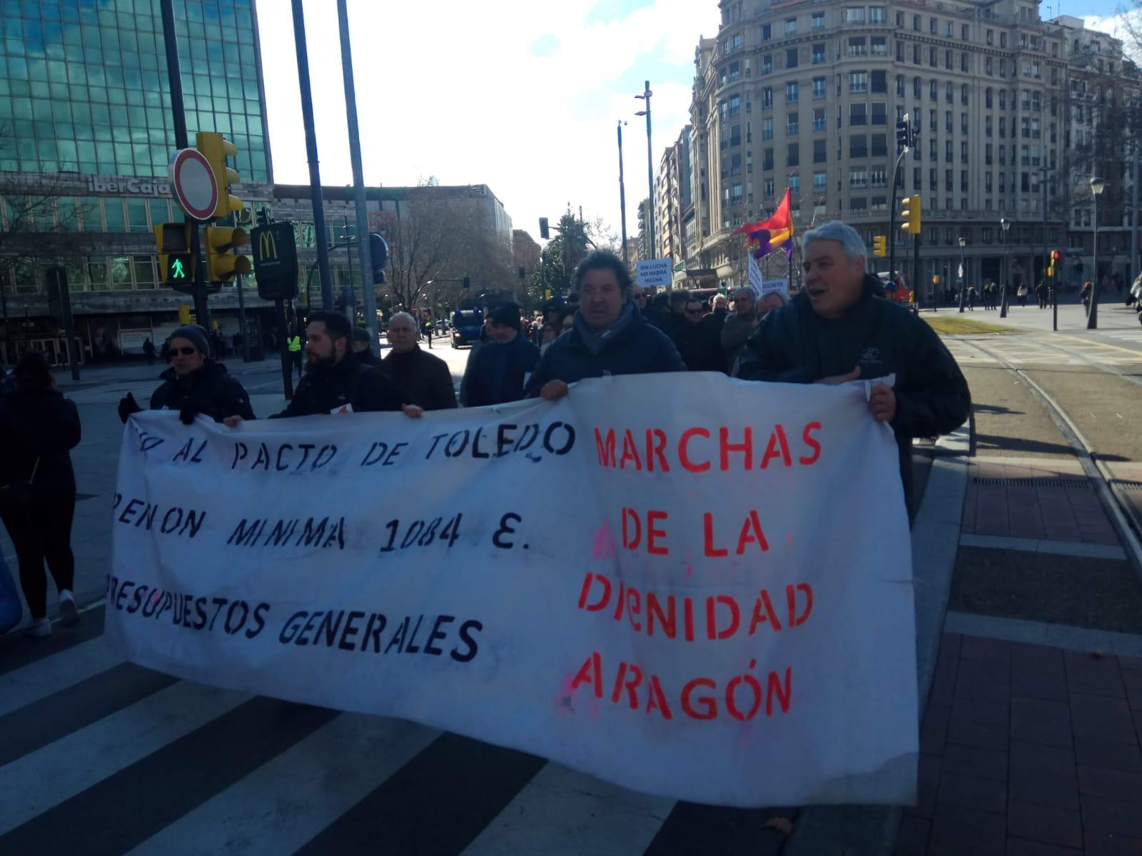 Zaragoza, Barcelona, Binefar. Videos y fotos, manifestación pensiones 02 de Febrero 2019.