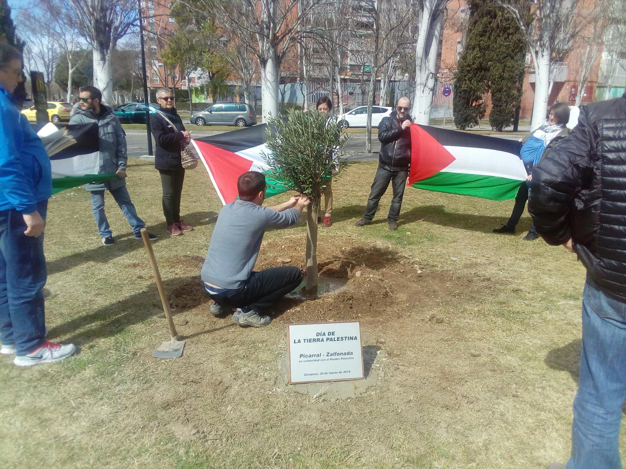Día de la Tierra Palestina en el Barrio del Picarral (Zaragoza)