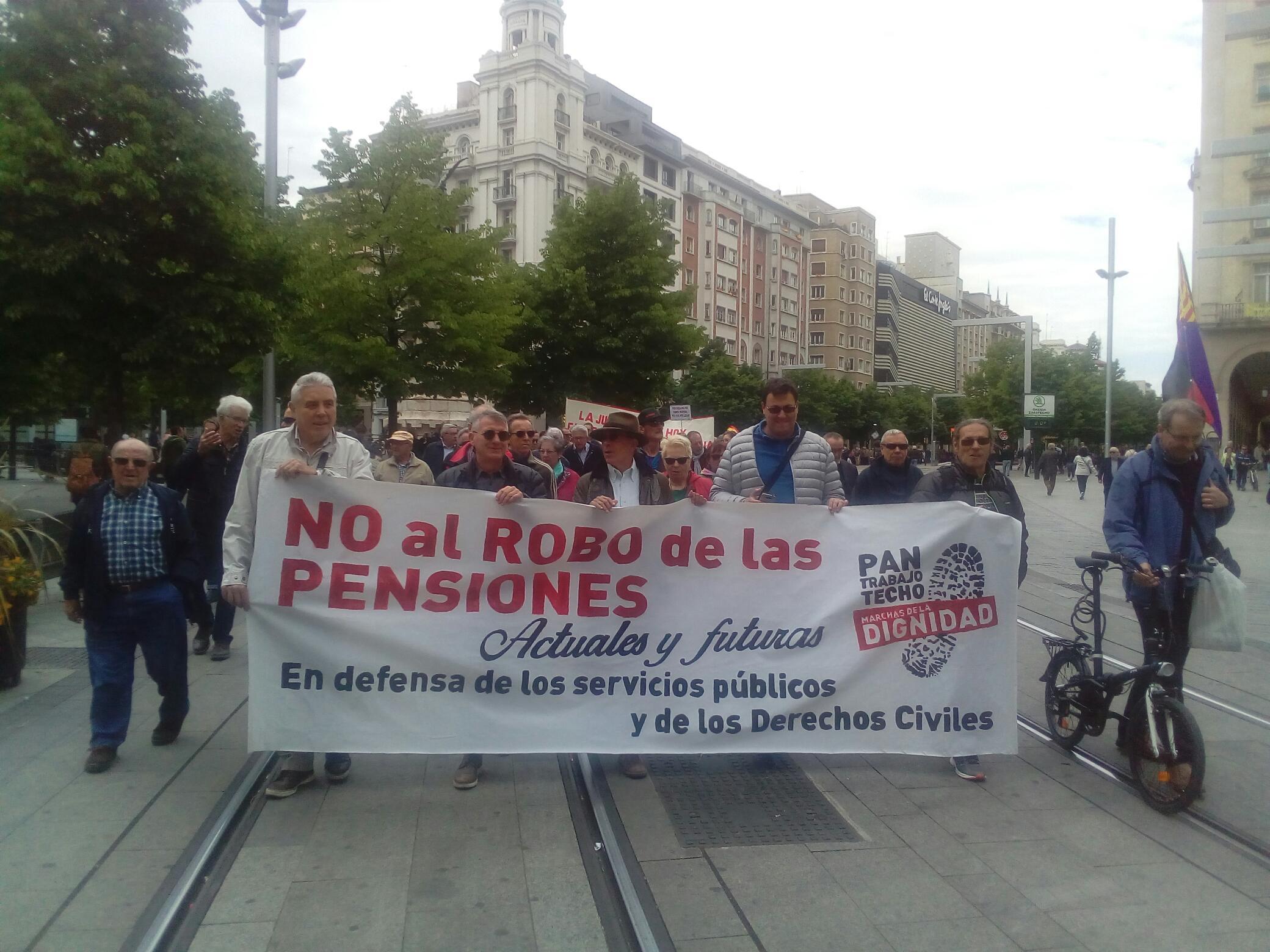 Fotos. Movilizaciones por «No al Robo de las pensiones». 5 de Mayo. Zaragoza