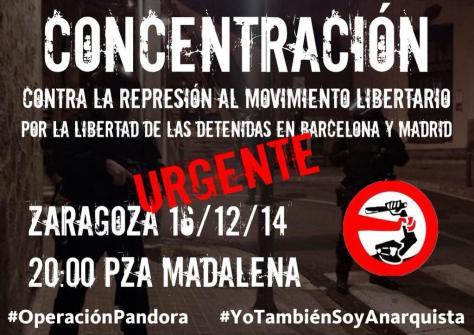 HOY Concentración contra #OperacionPandora