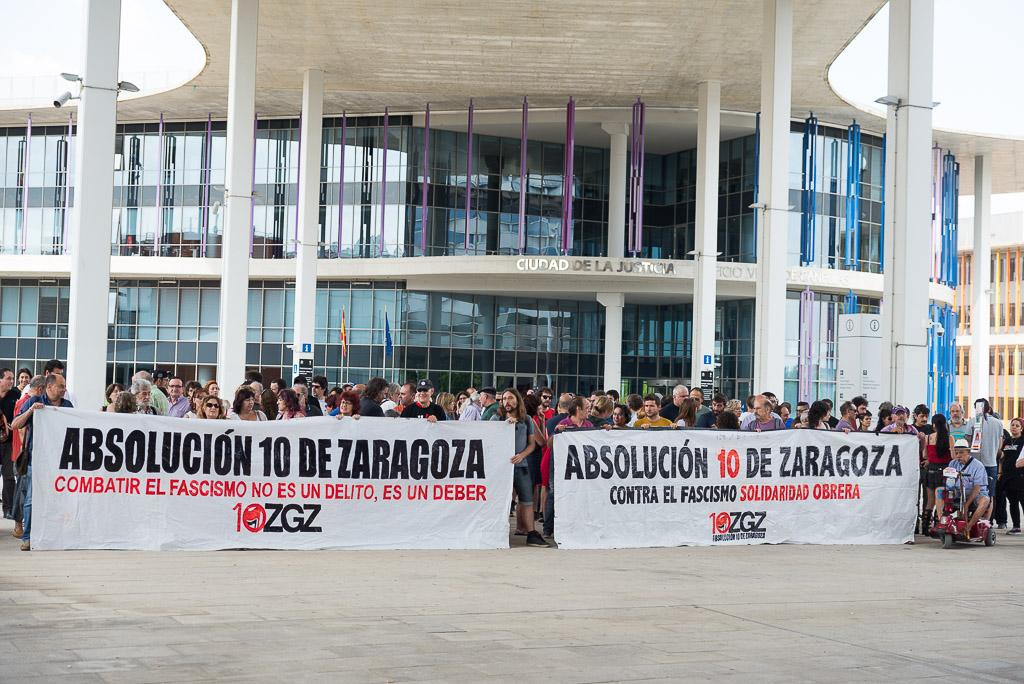 La defensa ratifica la petición de absolución para el primero de 'Los 10 de Zaragoza'