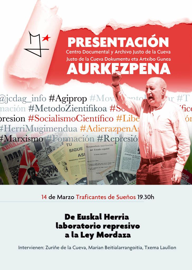 Acto publico: De Euskal Herria como laboratorio represivo a la Ley Mordaza