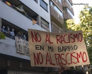Zaragoza unida contra la presencia de fascistas en los barrios