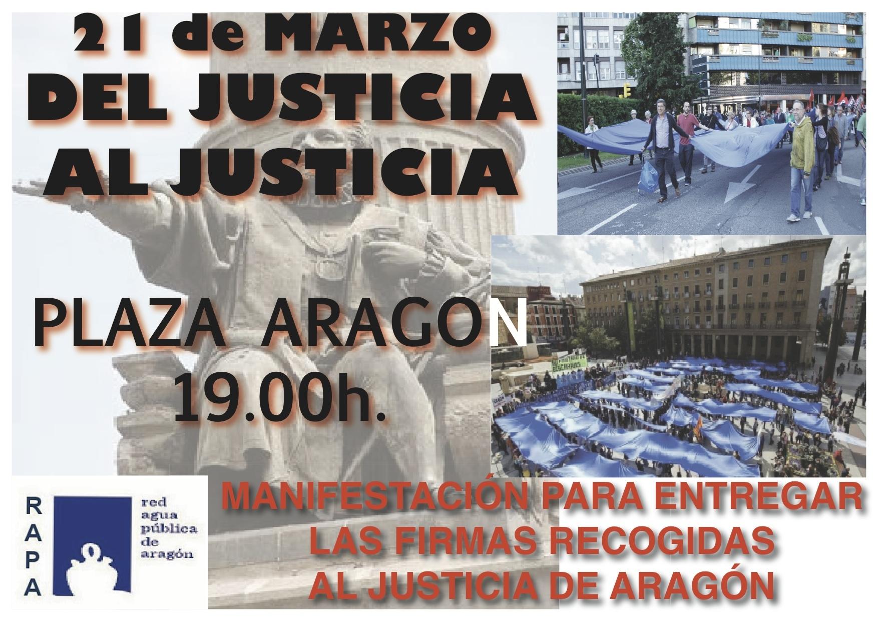 Manifestacion por el agua 21 de Marzo