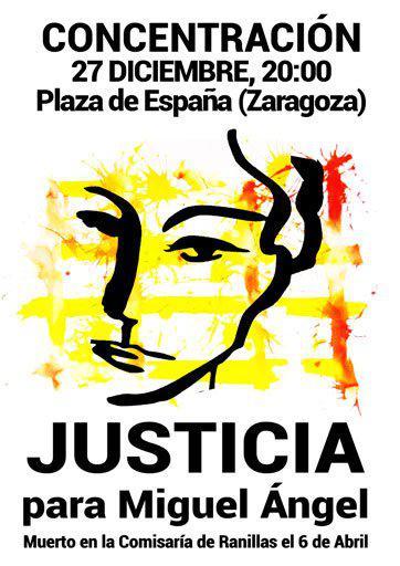 Última Concentración del 2016 para exigir #JusticiaParaMiguelAngel