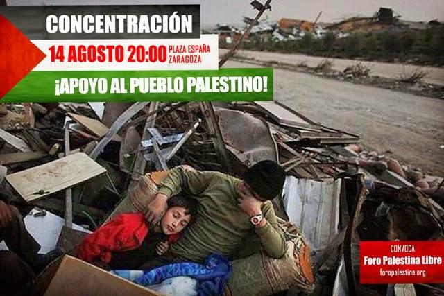 CONTRA LOS NAZIS SIONISTAS, CONCENTRACION 14 DE AGOSTO 2014