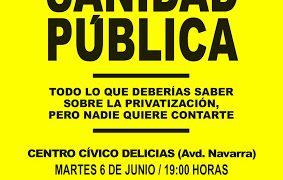"""Martes 6 junio – Presentación del libro: """"Se vende sanidad pública"""""""