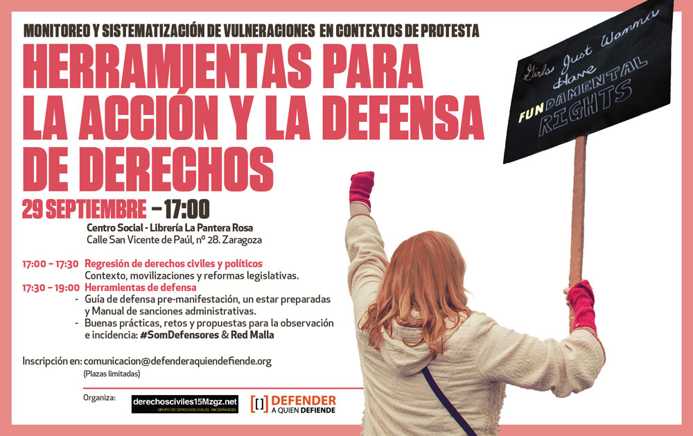 Taller sobre herramientas para la acción y defensa de  derechos