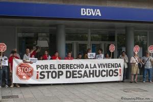 Stop Desahucios se concentrará frente al BBVA para pedir la paralización del desalojo forzoso de una familia