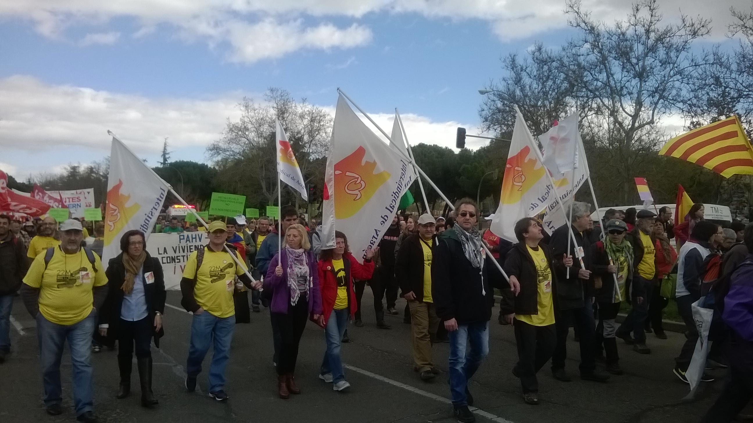 Intersindical de Aragón el 22M en Madrid