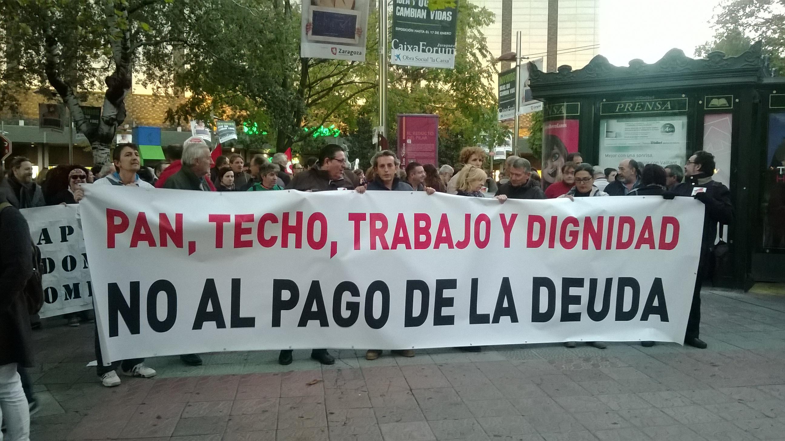 22O.Las calles piden dignidad y No al pago de la Deuda