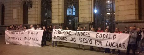Concentración en Zaragoza para exigir la libertad y la amnistía de todos los presos y represaliados políticos del régimen Español