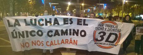 3D, La lucha es el único camino. Marchas de la Dignidad. Fotos y Videos, Zaragoza y Madrid.