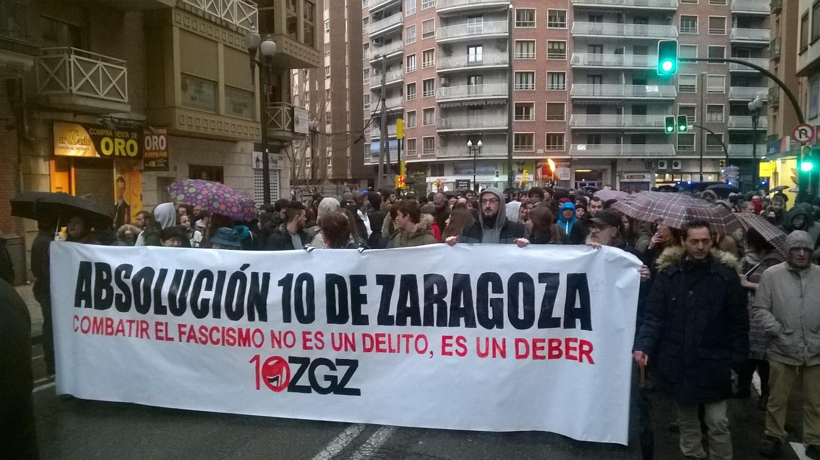 Manifestación: ¡¡Vosotros fascistas, sois los terroristas !! … y los que se lo permiten