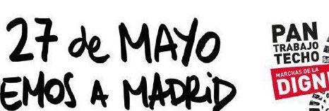 Rueda de Prensa presentando Las Marchas de la Dignidad del 27M. Tod@s a Madrid