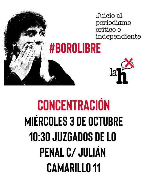 El juicio de mañana contra el reportero Boro LH  confirma el retroceso de las libertades de expresión