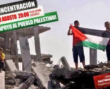 POR EL FIN DEL BLOQUEO DE GAZA