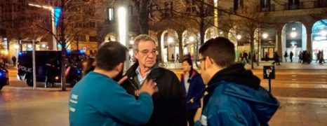 César Alierta, expresidente de Telefónica, acude provocativamente a la concentración de trabajadores de Movistar