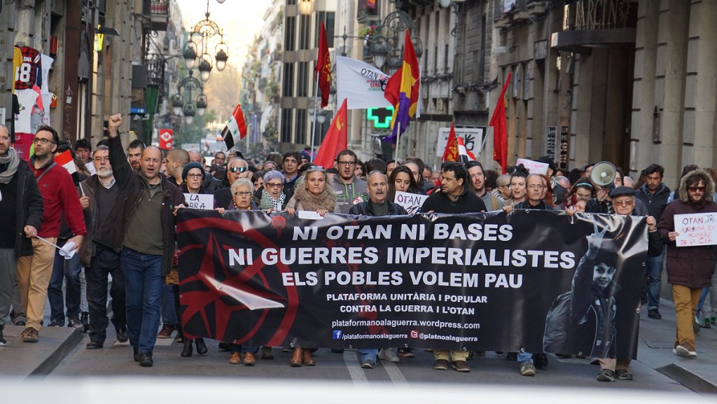 En Barcelona se volvió a gritar el «OTAN NO»