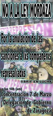 Por la anulación de las sanciones a lxs compañrxs represaliadxs #BrifEnLucha