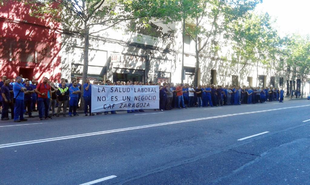 Movilizaciones y paros en CAF Zaragoza