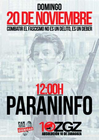 #20N. Combatir el fascismo no es un delito, es deber.