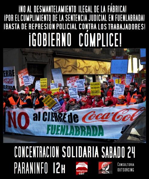 24E CONCENTRACIÓN SOLIDARIA CON LOS TRABAJADORES DE COCACOLA