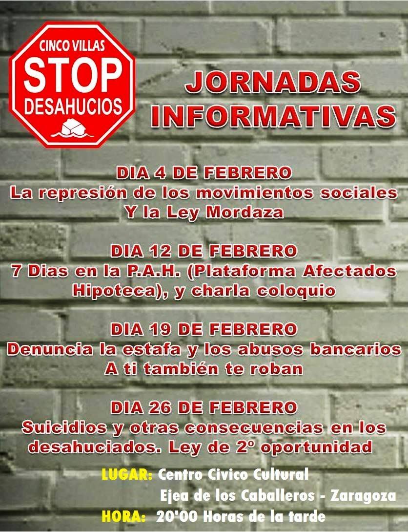 STOP DESAHUCIOS. Jornadas formativas