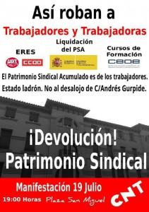 [CNT-Zaragoza] Manifestación 19-J. No al desalojo del local de c./Andrés Gúrpide.