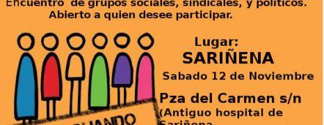 SARIÑENA, Encuentro de grupos sociales, sindicales y políticos. Sábado 12 de Noviembre