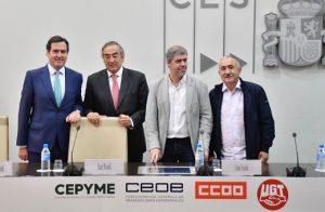Declaración conjunta de los Sindicatos de Clase  rechazando el pacto social entre la patronal, CCOO y  UGT