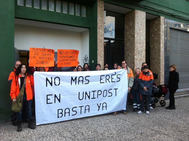 """(Zaragoza) Convocan paros parciales en Unipost ante """"las continuas medidas represivas"""" que sufren los trabajadores"""