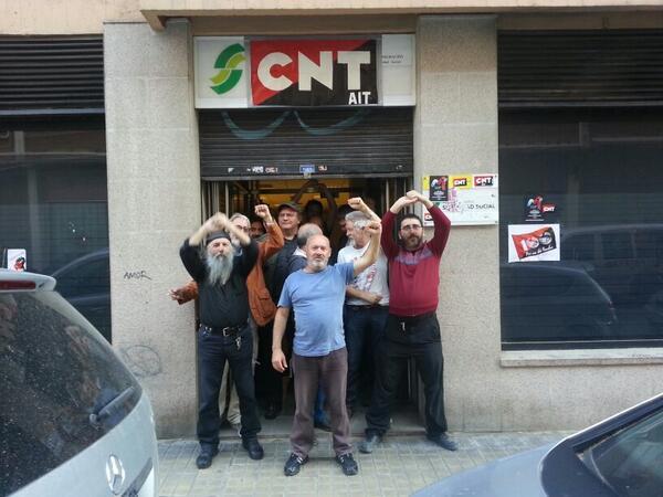 Apoyo a la ocupación de PSA de CNT en Zaragoza