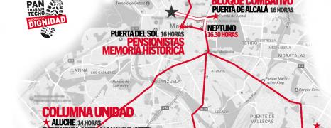 El 27 de Mayo, Volvemos a Madrid. Organización e información de las columnas.