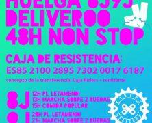 (Vídeo) 8 y 9 de julio: Solidarízate con la huelga de los 'riders' de Deliveroo