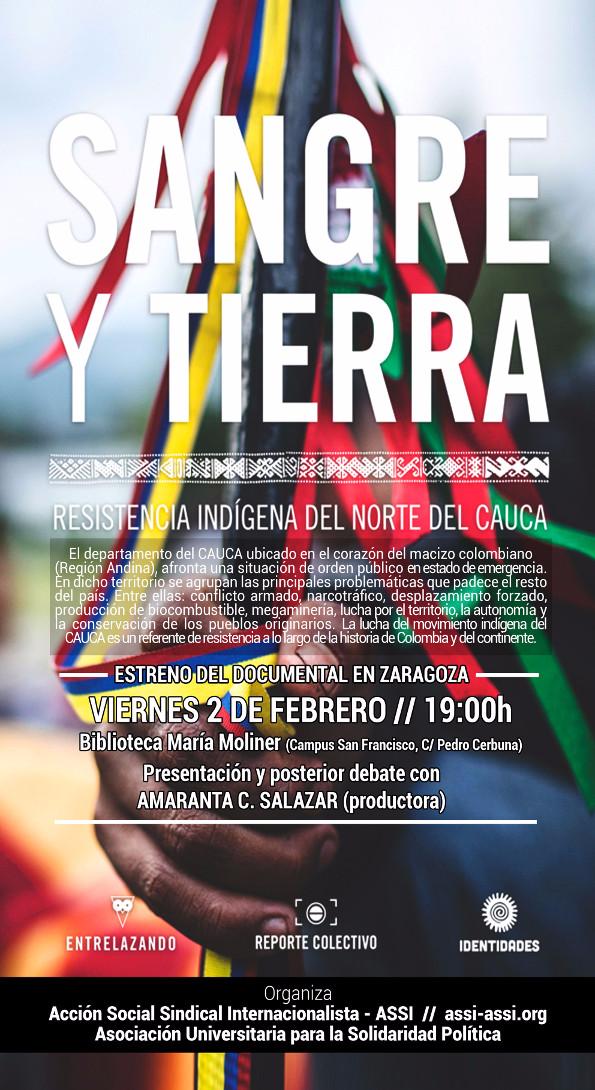 """Estreno del documental """"Sangre y tierra – resistencia indígena en el Norte del Cauca"""""""
