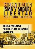 Concentración en Zaragoza. ¡Isma y Miguel Libertad! ¡Absolución detenidos #22M!