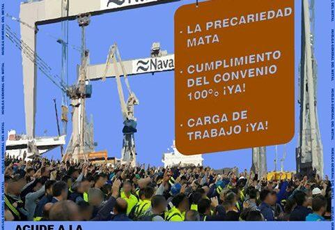 Los trabajadores del Metal convocan Huelga General en los  Astilleros de la Bahía de Cádiz