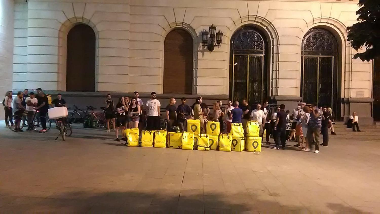 Un parón de repartidores en Zaragoza deja a Glovo sin servicio