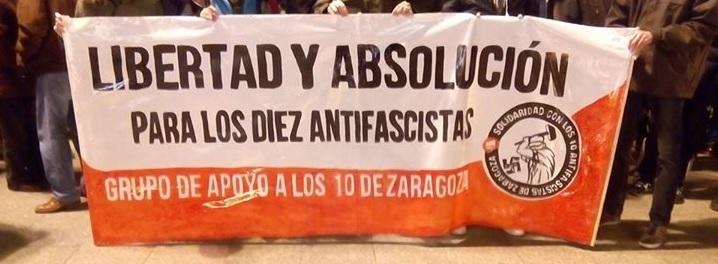 Piden ochenta y seis años de prisión para los antifascistas detenidos tras un concierto nazi en Zaragoza