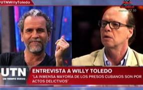 Willy Toledo en Telecinco: Otegi, Cuba, Venezuela, la censura en España, no se calló ni una