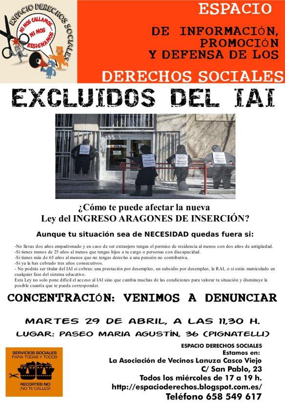 CONCENTRACION – EXCLUIDOS DEL I.A.I.