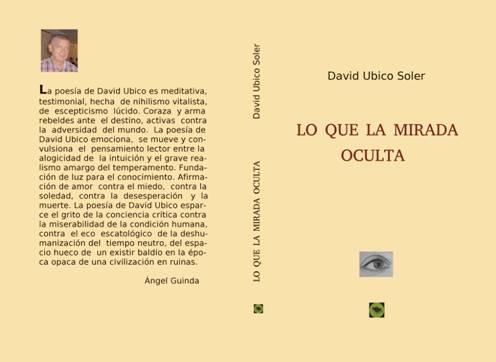 DAVID UBICO PRESENTA SU SEGUNDO LIBRO DE POEMAS