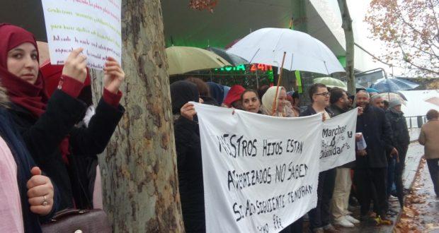 La dignidad de la Cañada Real. (Crónica de una manifestación bajo la lluvia y el frío)