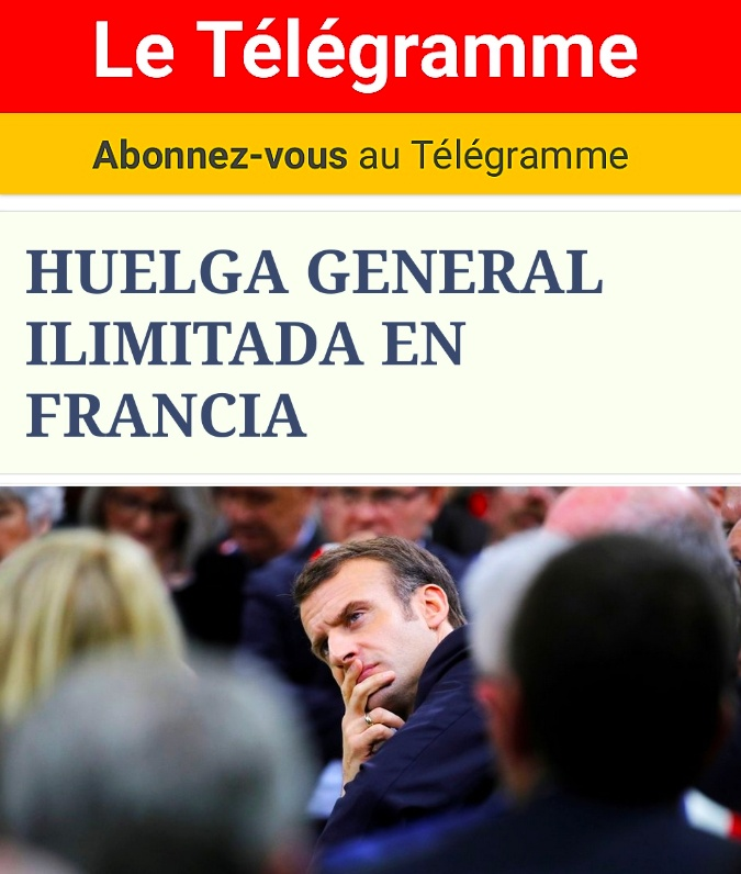 HUELGA GENERAL ILIMITADA EN FRANCIA