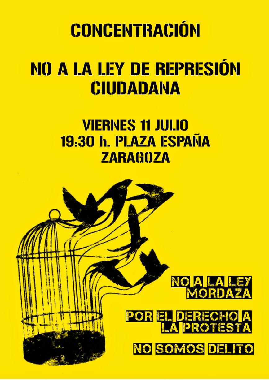 CONCENTRACIÓN: No a la ley de represión ciudadana