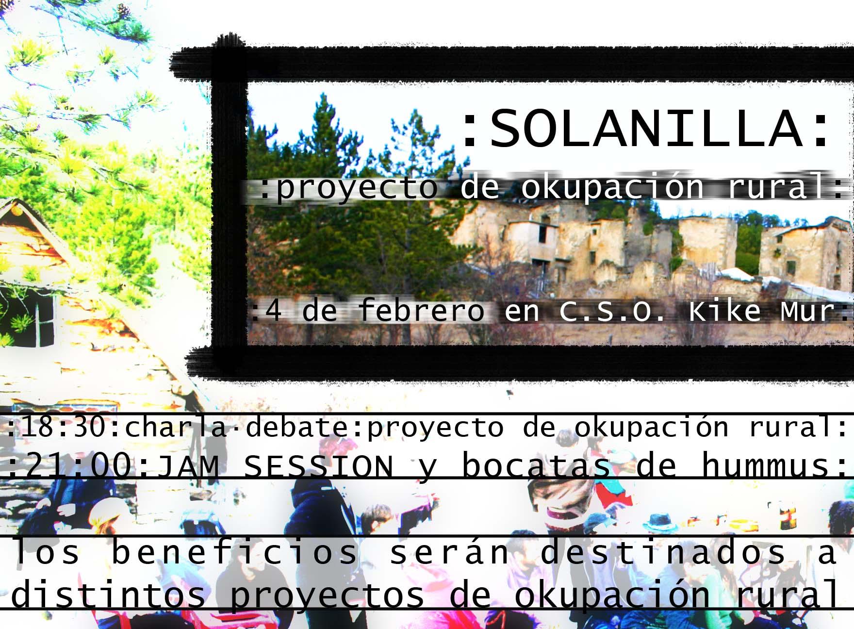 «Solanilla: proyecto de okupación rural».